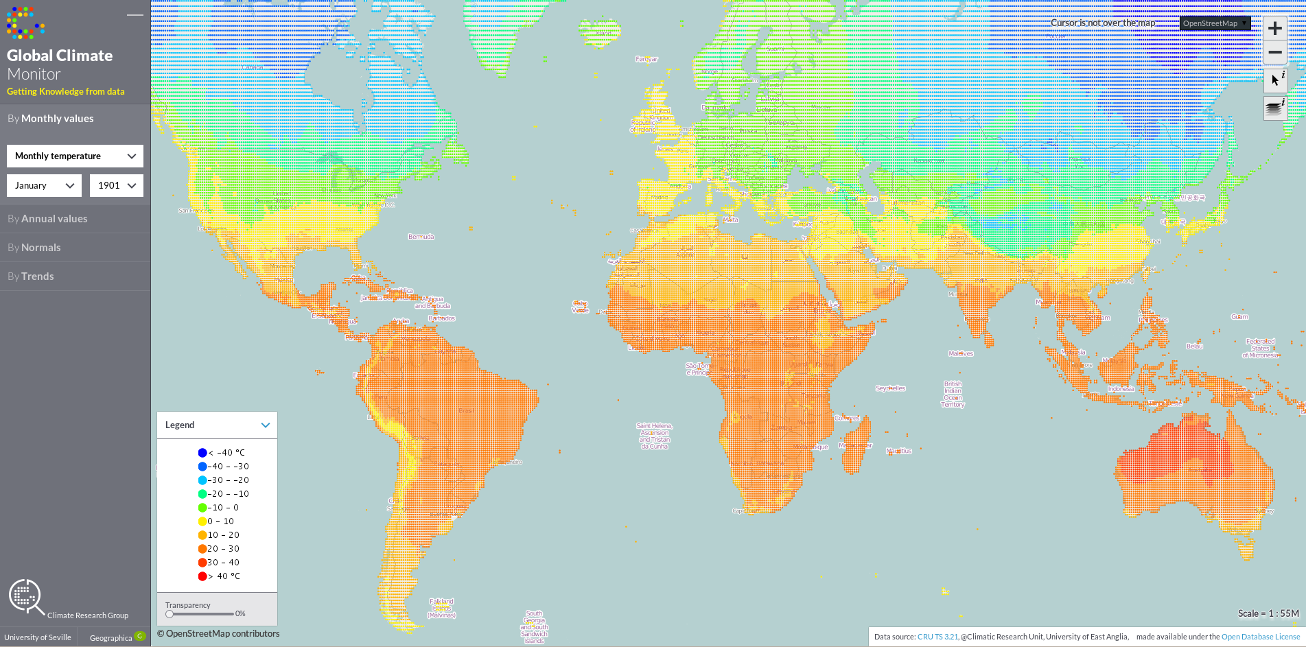 Global Climate Monitor - Monthly Temperature - January 1901