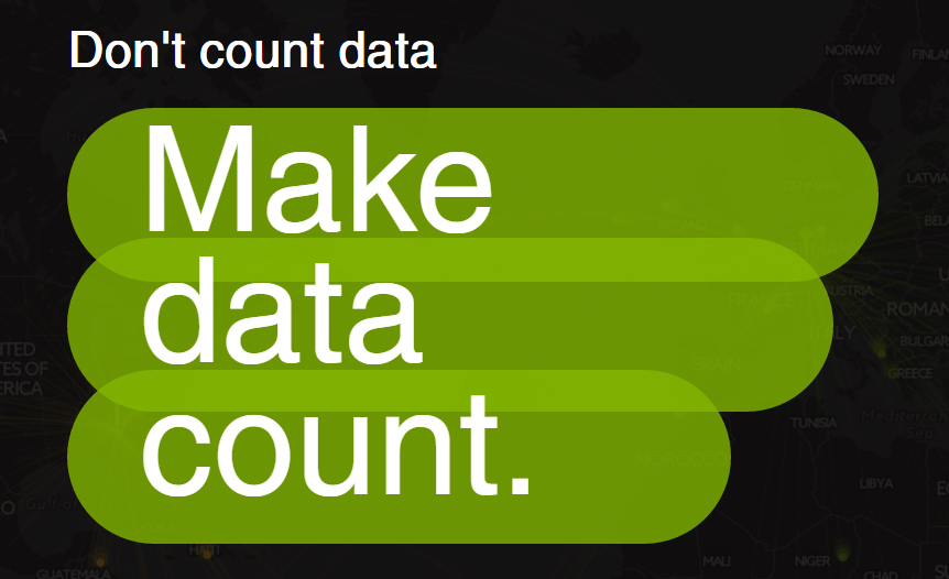 Make data count
